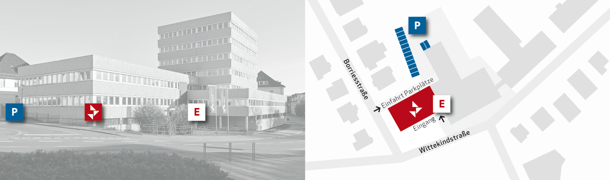 Pape Architekten Anfahrtsskizze